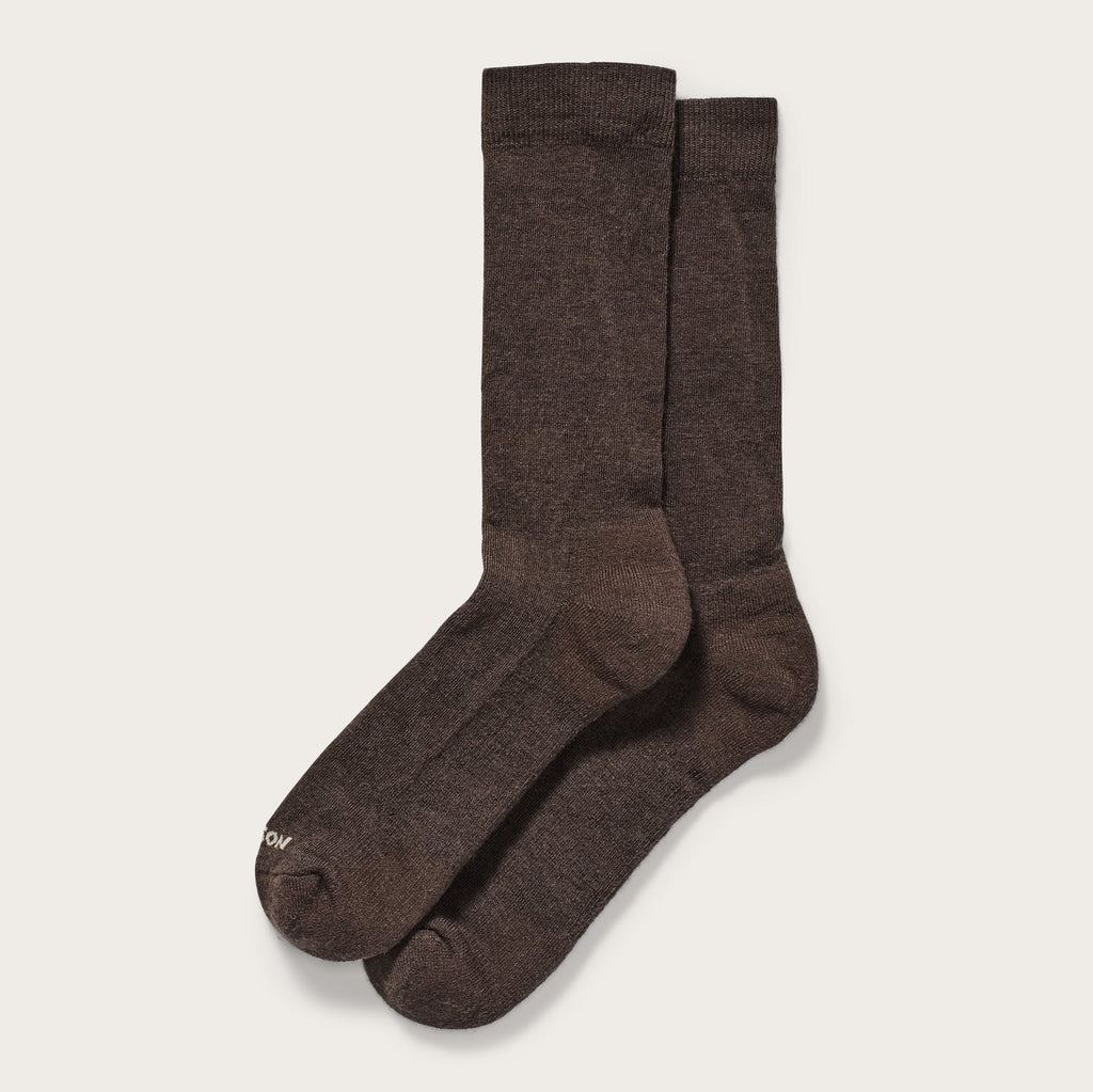 Filson - Everyday Crew Sock - Dark Brown