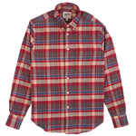 NAKED & FAMOUS - Easy Shirt - Rustic Nep Flannel - Red - The Populess Company