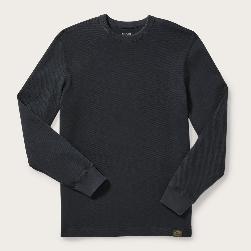 Filson - Waffle Knit Thermal Crewneck - Navy - The Populess Company
