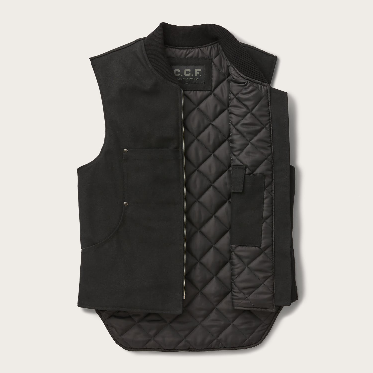 Filson - C.C.F. WORK VEST - Black - The Populess Company