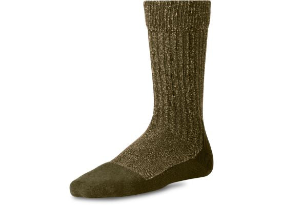 DEEP TOE-CAPPED WOOL SOCK 97178 - Olive - The Populess Company