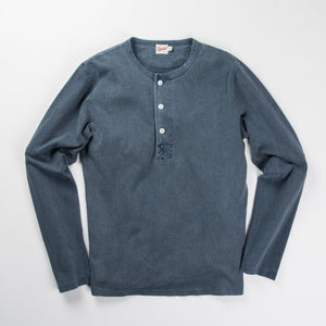 Freenote - 13 OUNCE HENLEY L/S FADED BLUE - The Populess Company