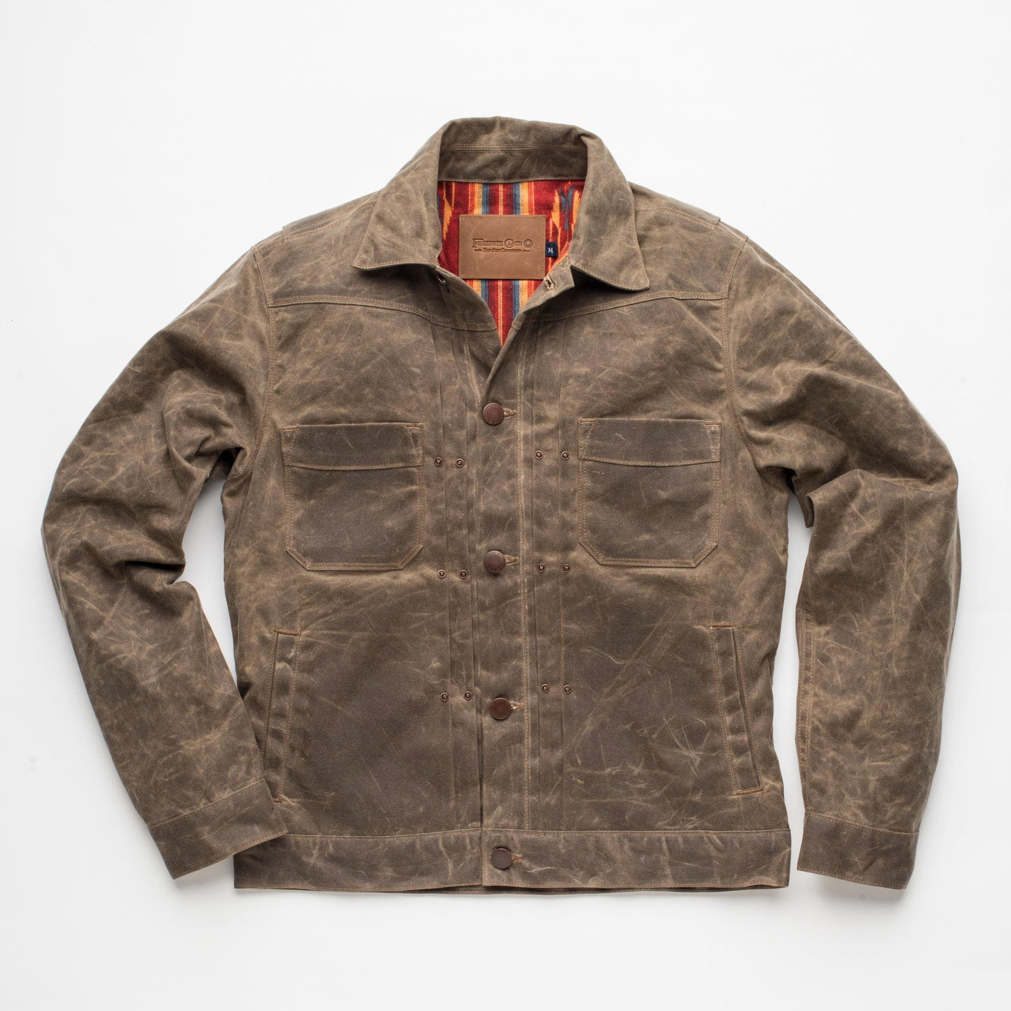 Freenote - Riders Jacket Waxed Canvas Taupe - The Populess Company