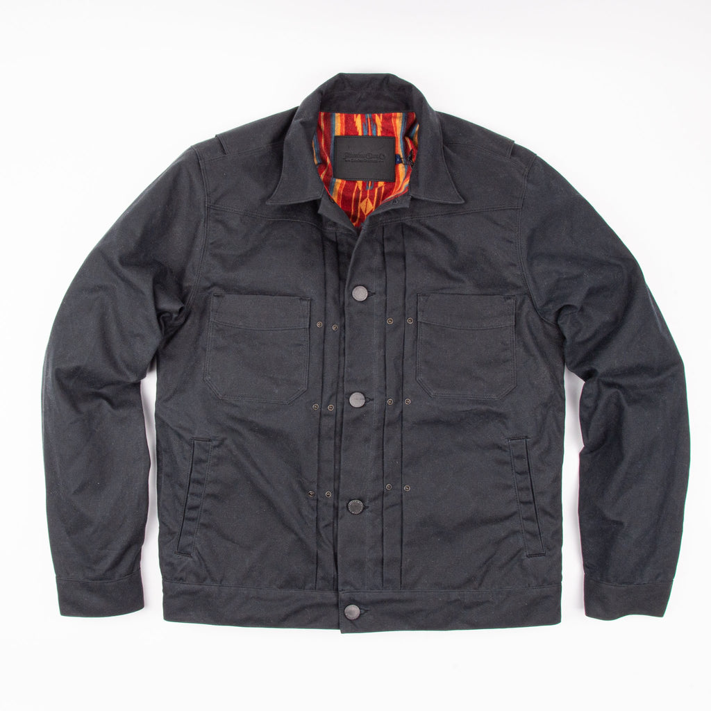 Freenote - Riders Jacket Waxed Canvas - Black
