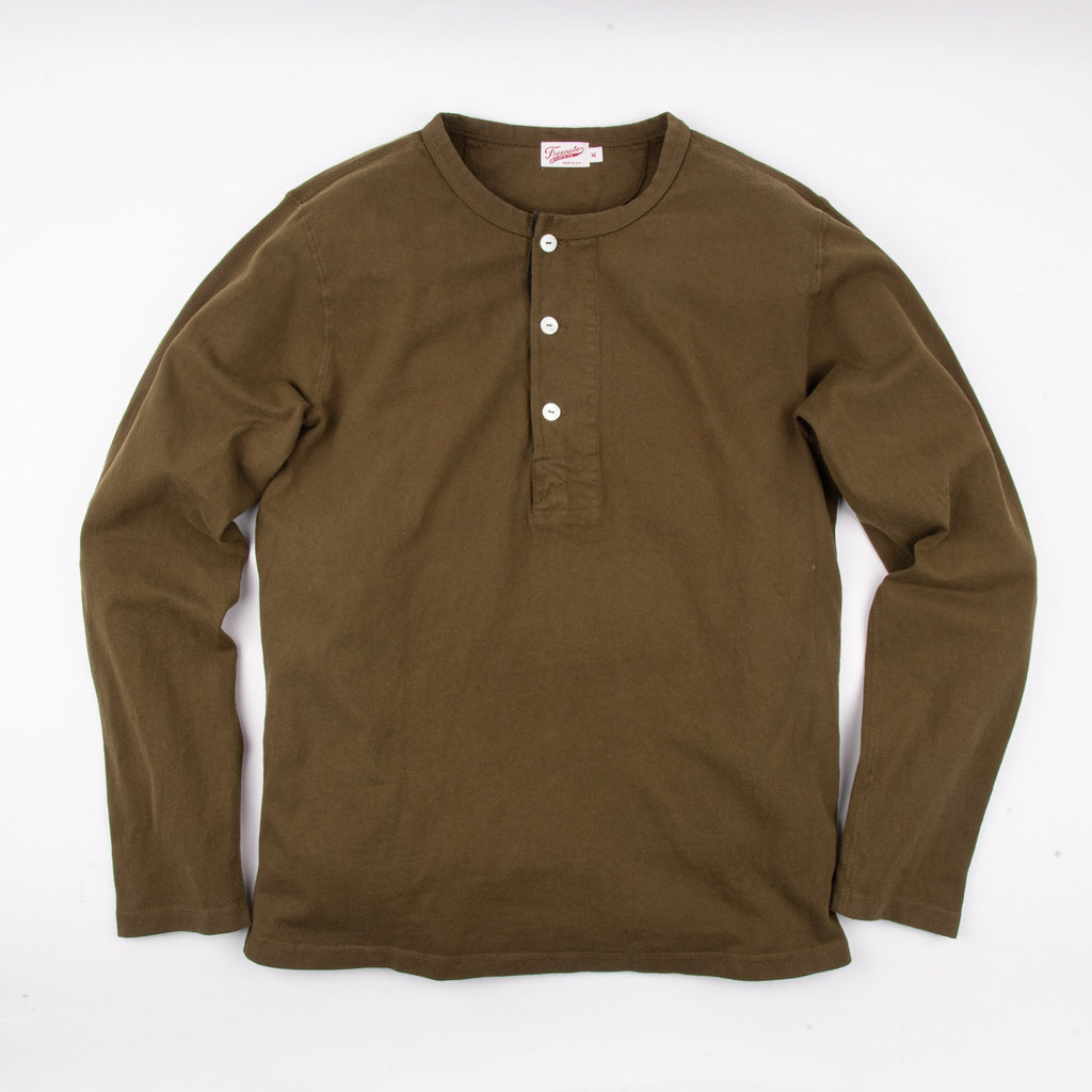 Freenote Cloth - 13 OUNCE HENLEY L/S OLIVE