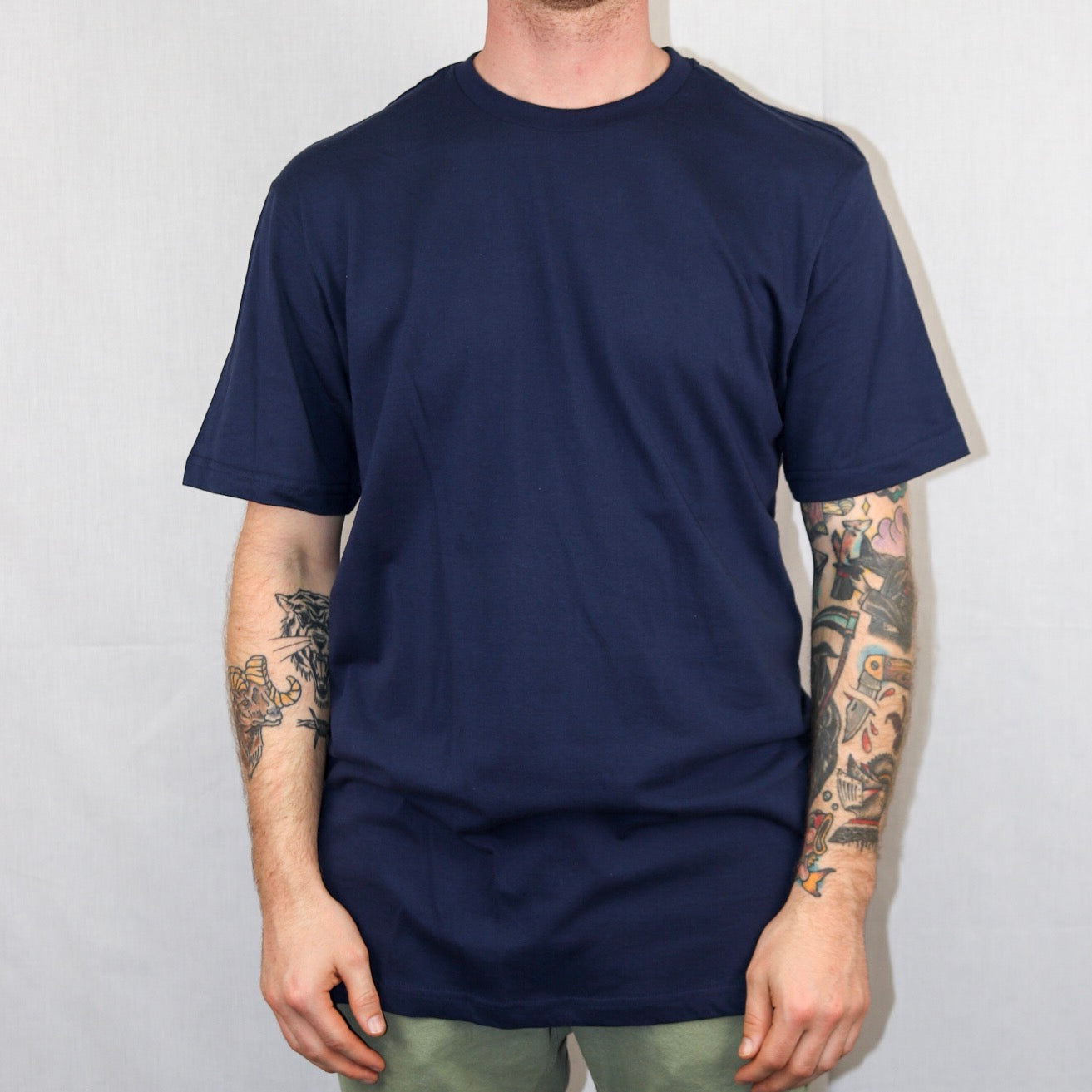 Script Tee - Navy - The Populess Company