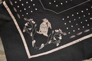 Wild Rose Bandana - Black - The Populess Company