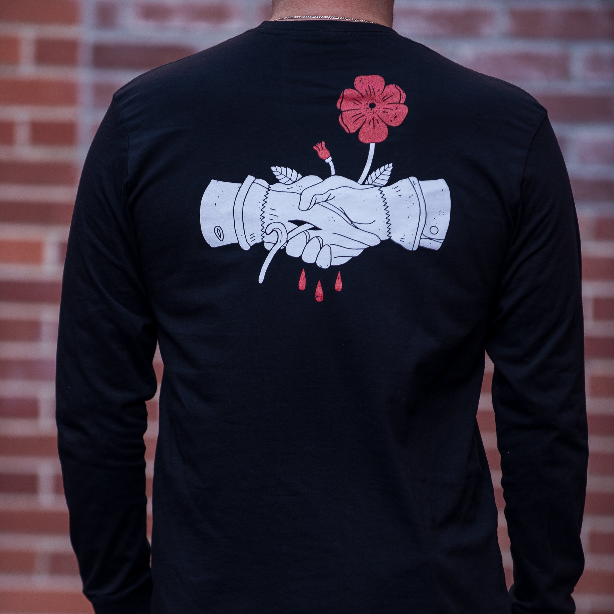 Wild Rose Handshake L/S Tee - The Populess Company