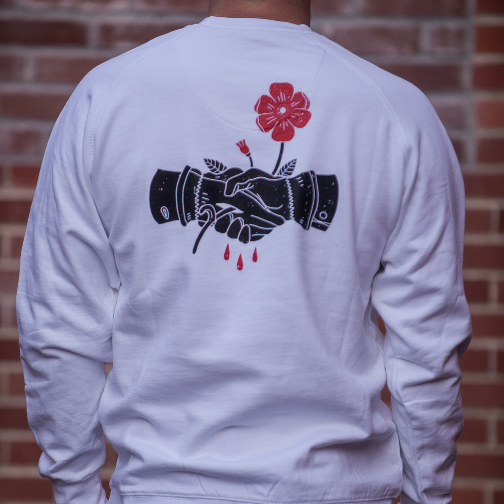 Wild Rose Handshake Crew Sweater - The Populess Company