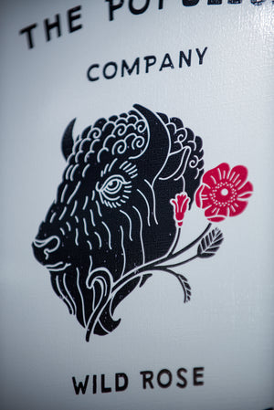 Wild Rose Bison 11X16 Print - The Populess Company
