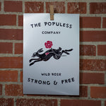 Wild Rose Jack Rabbit 11X16 Print - The Populess Company