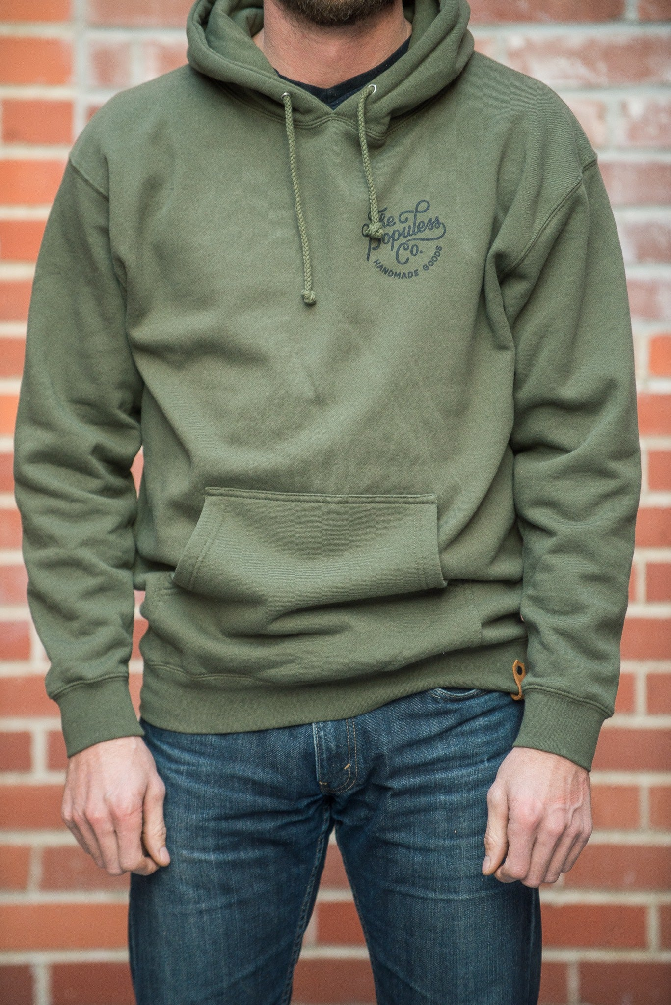Script Hoody - Army - The Populess Company