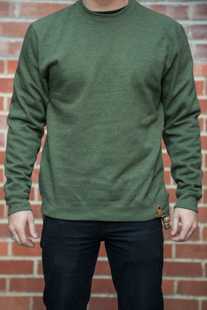 Lock Up Crew Sweater - Olive - The Populess Company
