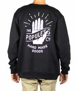 HMG Crew Sweater - Black - The Populess Company