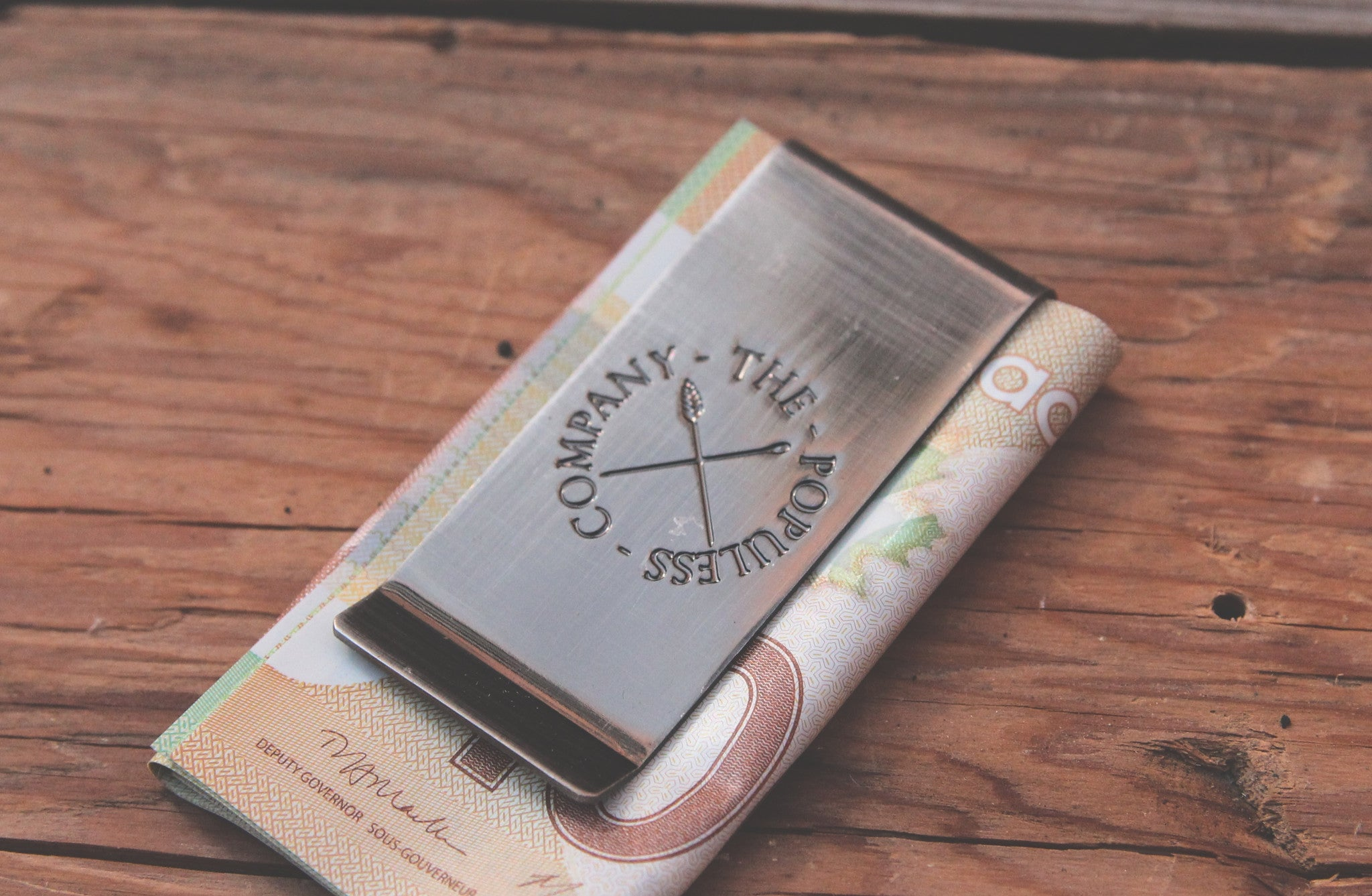 TPC Money Clip - Antique Silver - The Populess Company