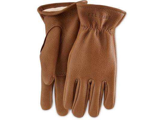 LINED BUCKSKIN GLOVES 95230 - Nutmeg - The Populess Company