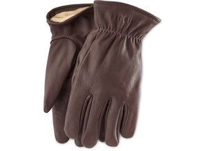 LINED BUCKSKIN GLOVES 95231 - Brown - The Populess Company