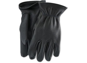 LINED BUCKSKIN GLOVES 95232 - Black - The Populess Company