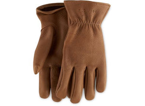 UNLINED BUCKSKIN GLOVES 95234 - Nutmeg - The Populess Company