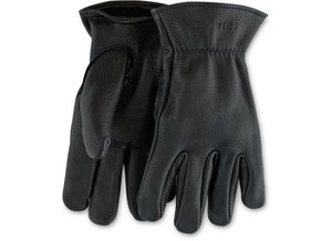 UNLINED BUCKSKIN GLOVES 95236 - Black - The Populess Company