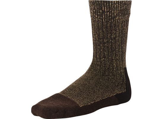 DEEP TOE-CAPPED WOOL SOCK 97173 - Brown - The Populess Company