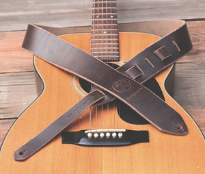 The Lee Guitar Strap - Chocolate - The Populess Company
