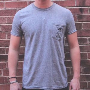 Prairie Boy Pocket Tee - Heather Grey - The Populess Company