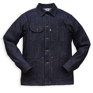 Railcar Fine Goods - Chore Coat - X054 Japanese Denim - The Populess Company