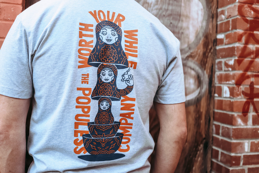 The Populess Co. - Nesting Doll Tee - Heather Grey