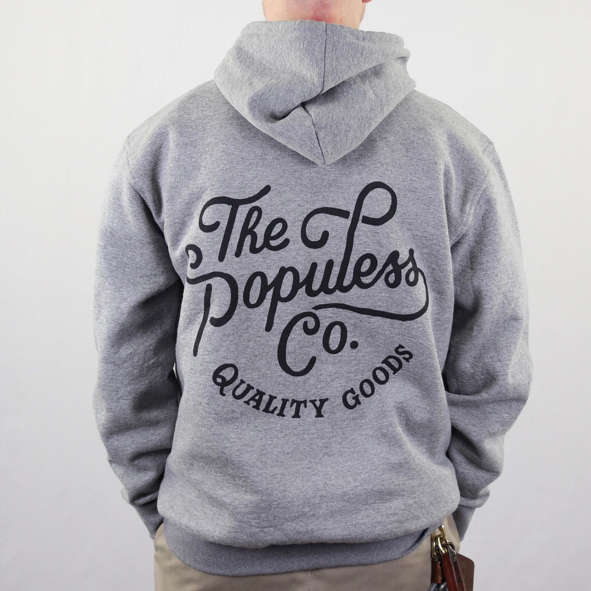 Script Hoody - Heather Grey - The Populess Company