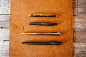 Fisher Space Pen X The Populess Company - Bullet Pen - Matte Black/Brass