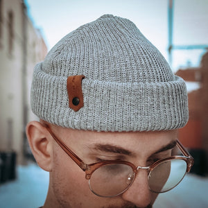 Davis Beanie - Heather Grey - The Populess Company