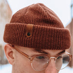 The Dock Beanie - Brown - The Populess Company