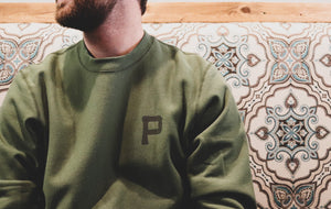 Rising Plains Crew Sweater - Moss