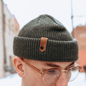 The Dock Beanie - Olive - The Populess Company