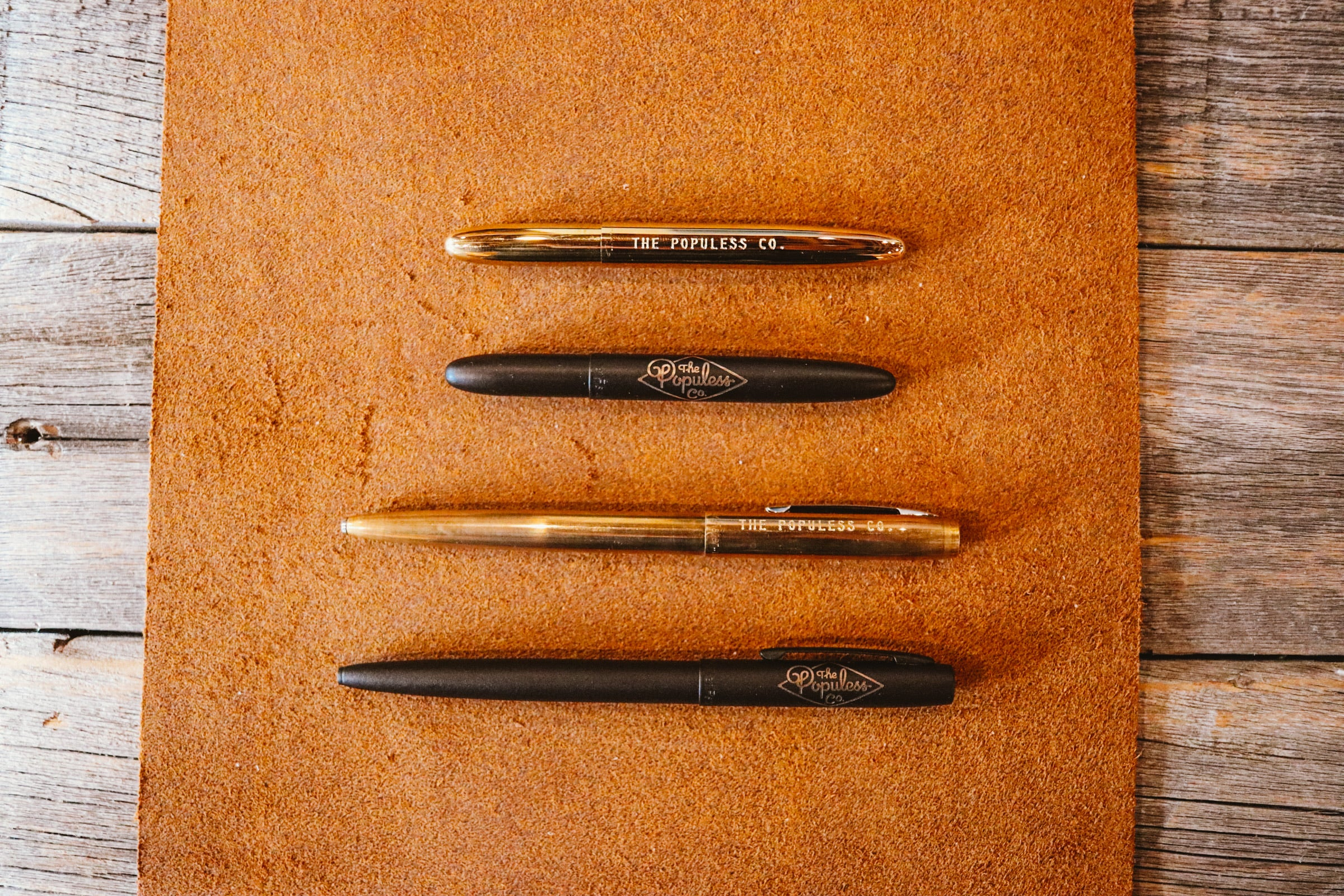 Fisher Space Pen X The Populess Company - Military Pen - Matte Black/Brass