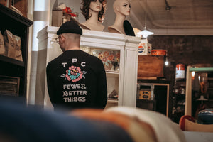 Fewer Better Things Long Sleeve - Black - The Populess Company