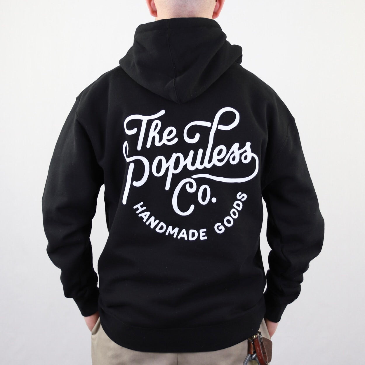 Script Hoody - Black - The Populess Company