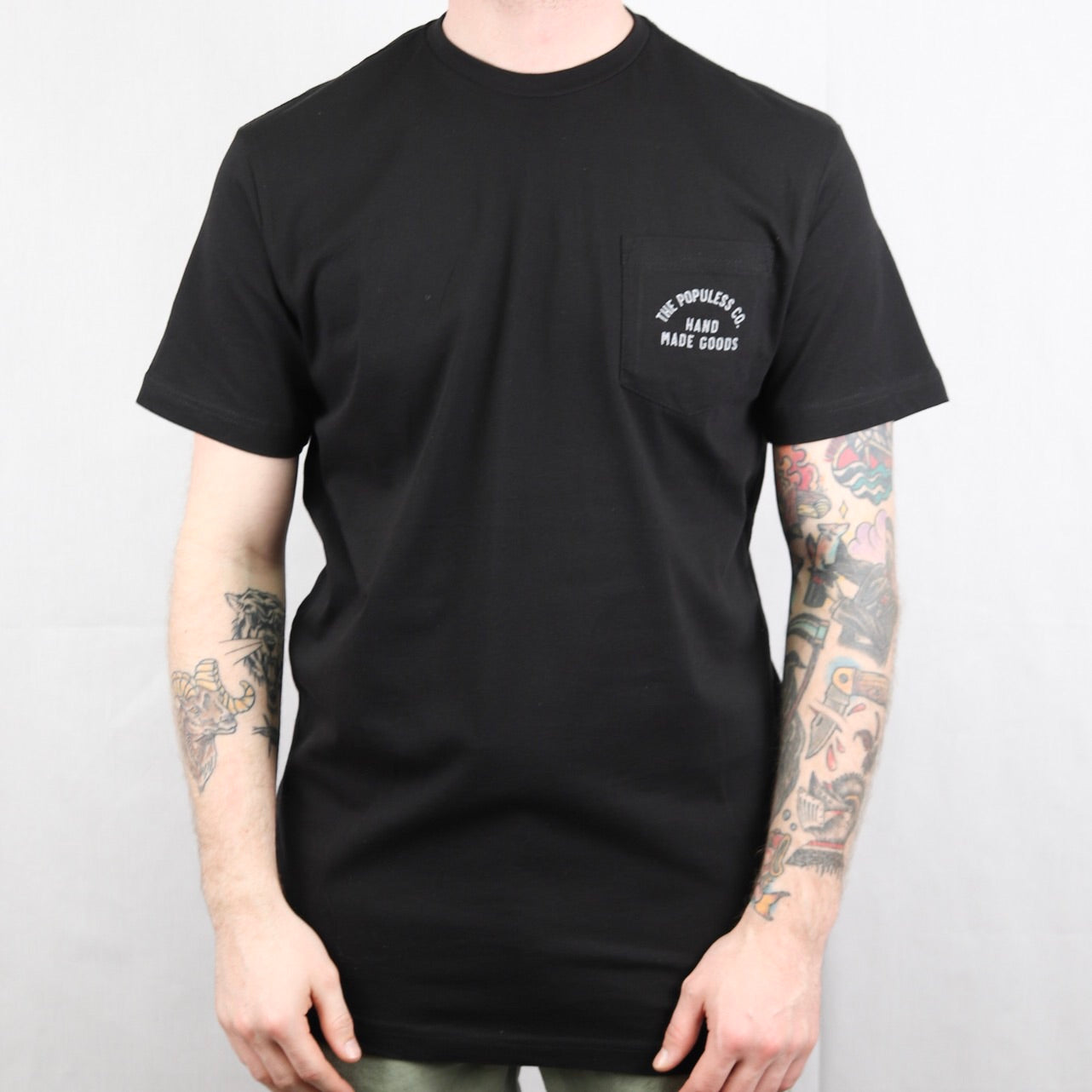 Lock Up Pocket Tee - Black/Grey - The Populess Company
