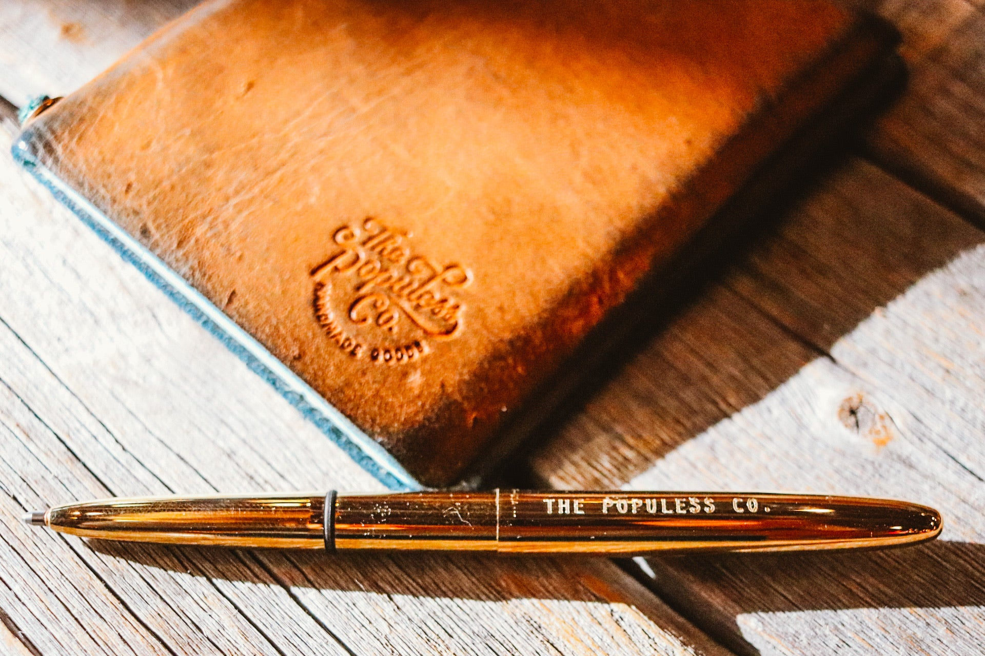 Fisher Space Pen X The Populess Company - Bullet Pen - Raw Brass