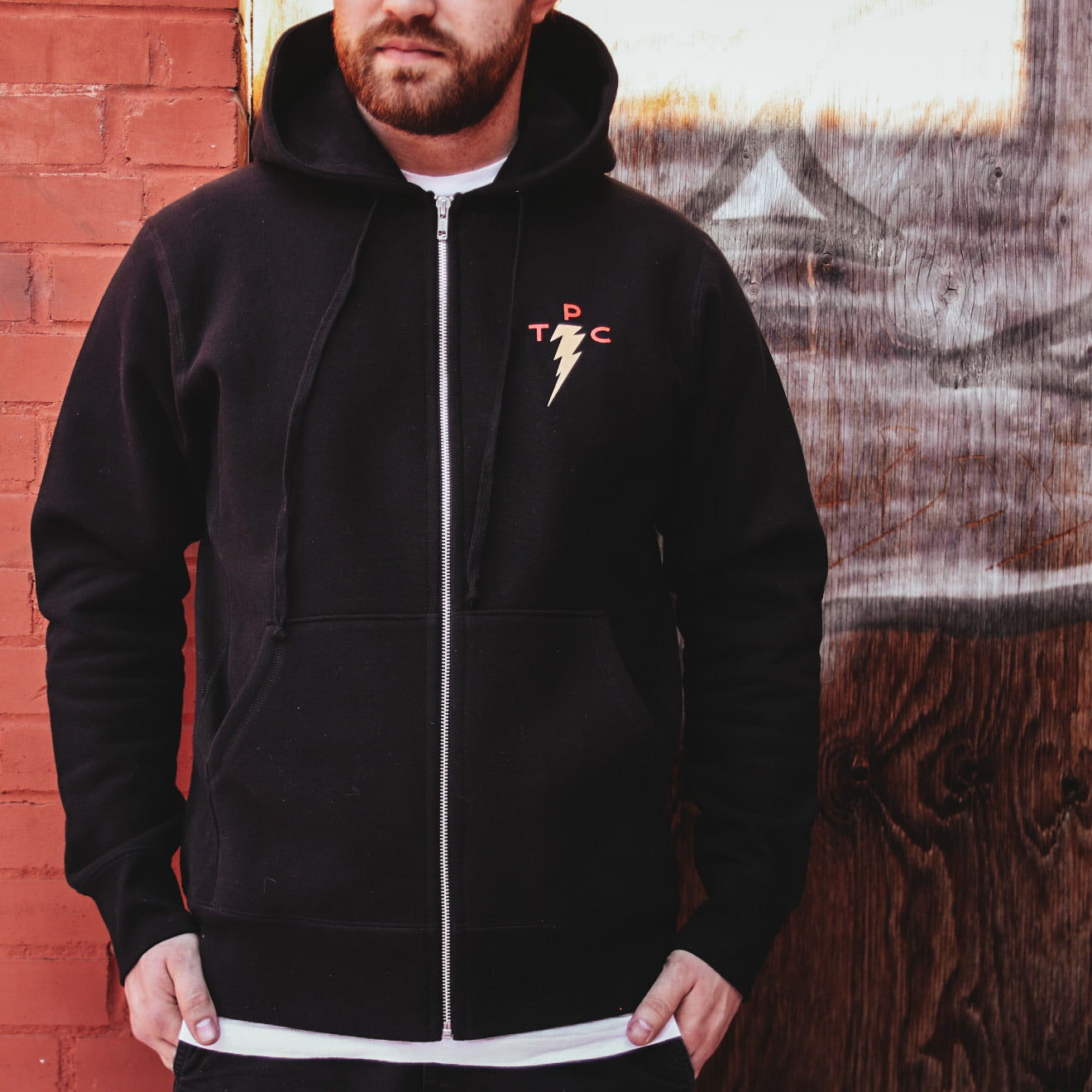 TPC Bolt Zip Hoody - Black