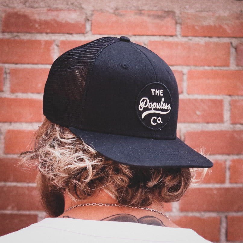 Badge Meshback Cap - Black