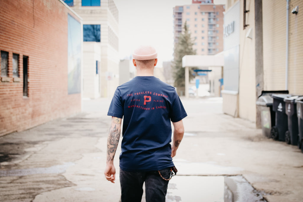 Rising Plains Tee - Navy - The Populess Company