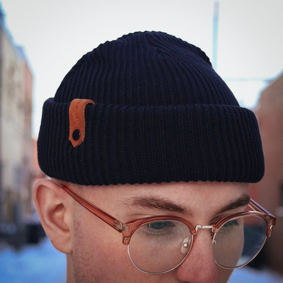 Davis Beanie - Navy - The Populess Company