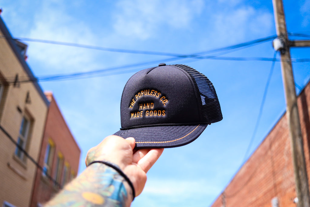 Lock-Up Meshback Cap - Black/Gold