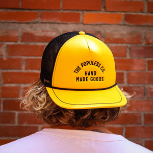 Lock-Up Meshback Cap - Honeybee/Black