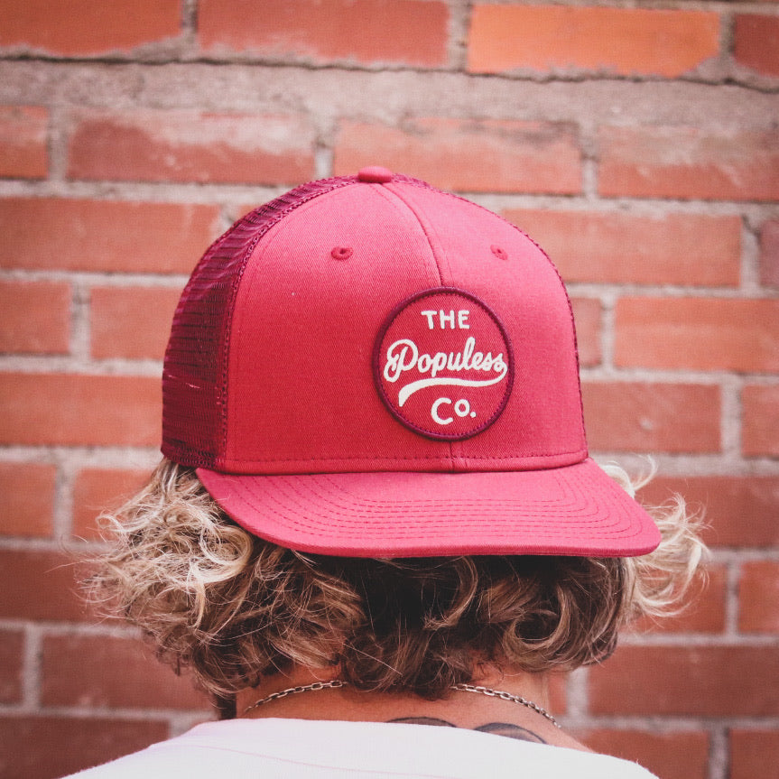 Badge Meshback Cap - Crimson