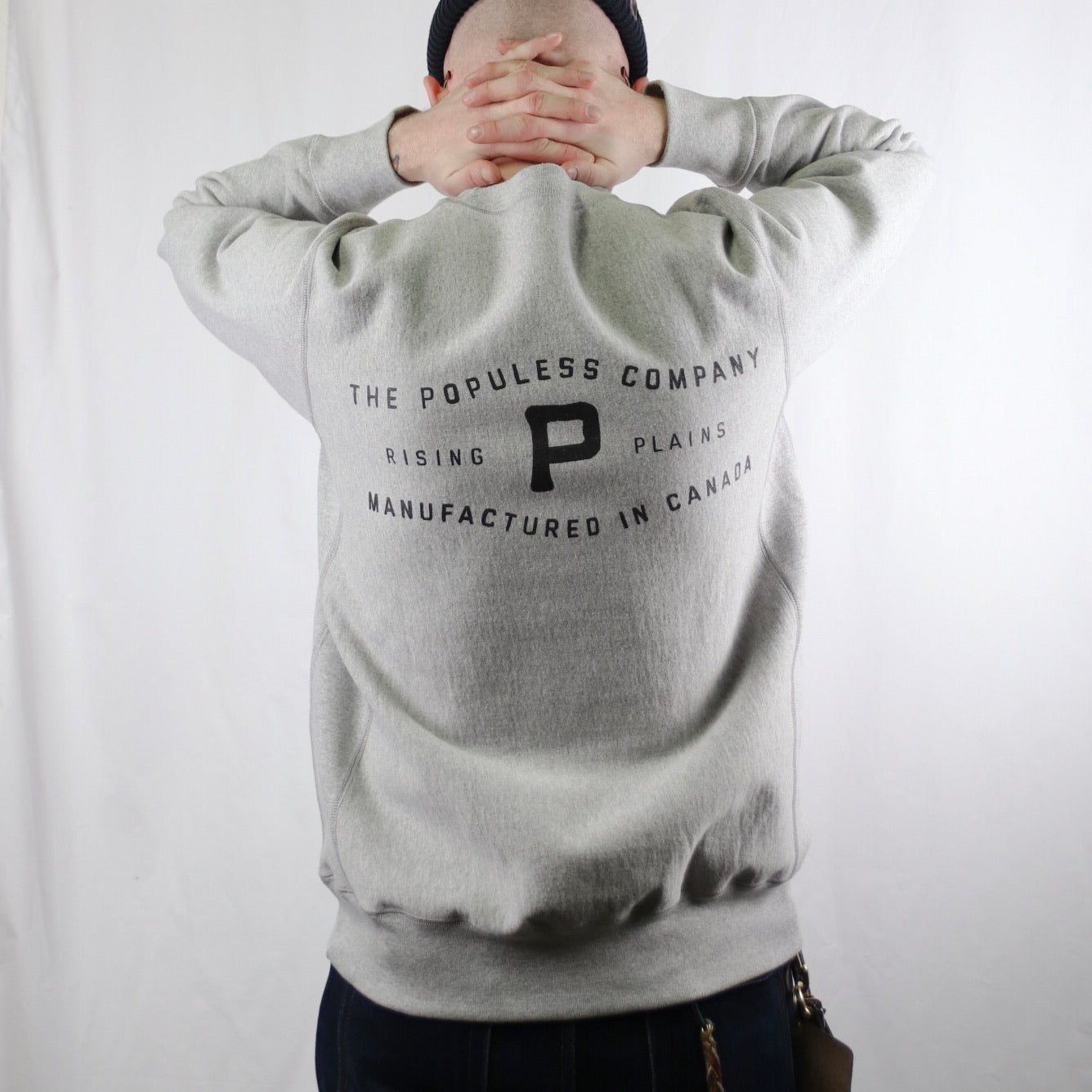 Rising Plains Crew Sweater - Grey - The Populess Company
