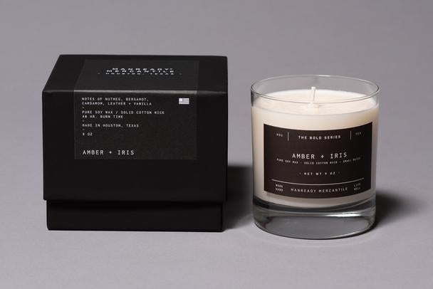 Manready Mercantile - The Bold Series Soy Candle - Amber + Iris - The Populess Company
