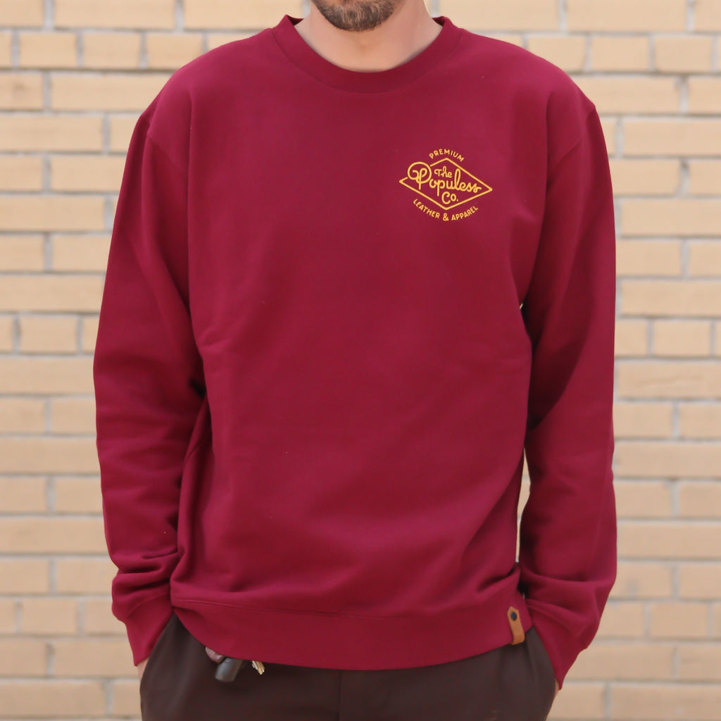 Premium Crew Sweater - Cardinal - The Populess Company